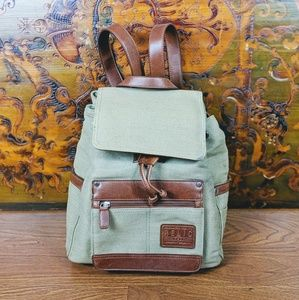 Relic Canvas and Leather Mini Backpack